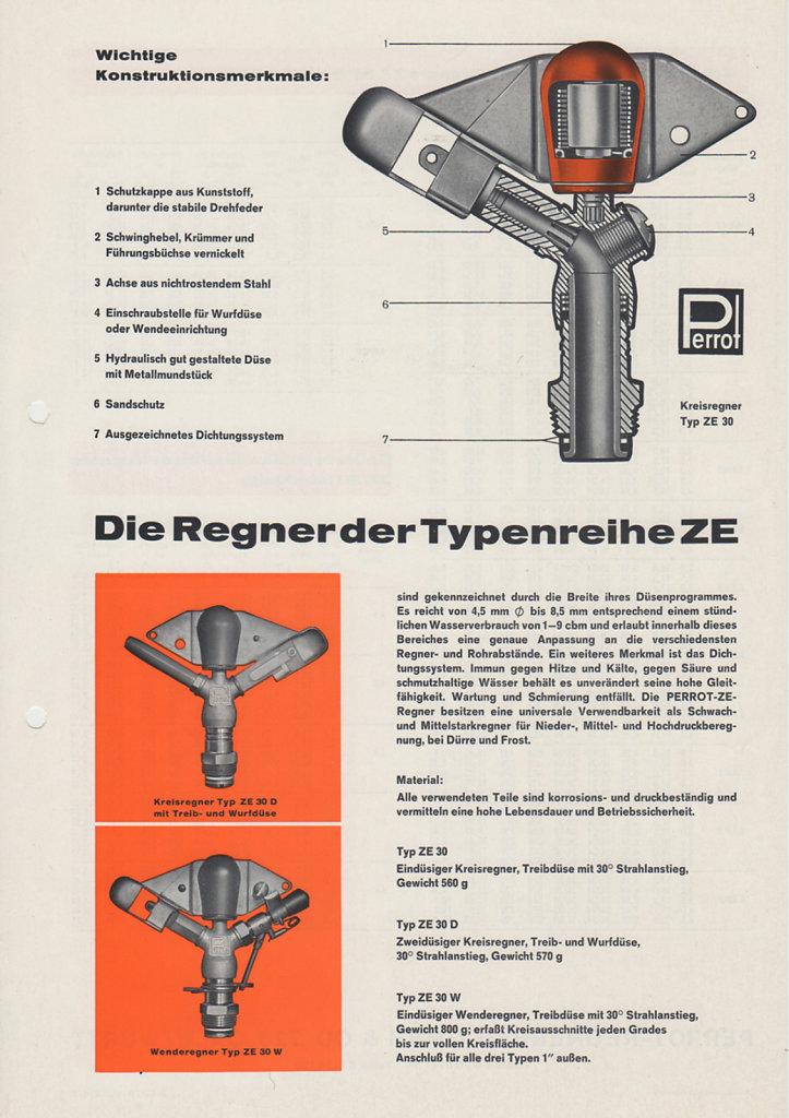 PERROT Typenblatt