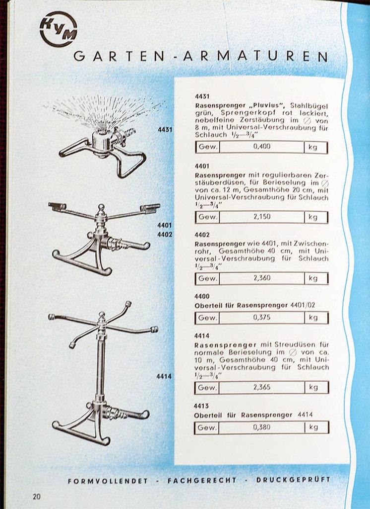 KYM Preisliste 120 - 50er Jahre