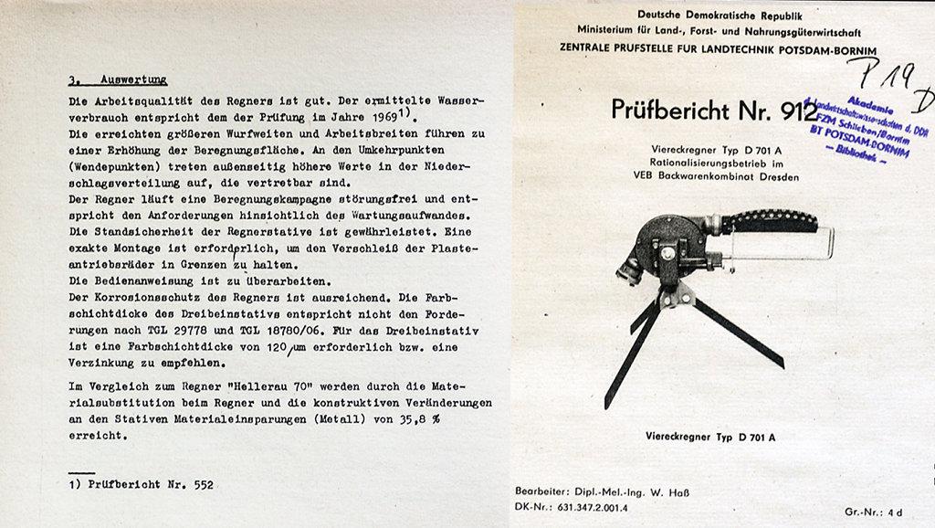 Mit Prüfbericht 912 von 1985