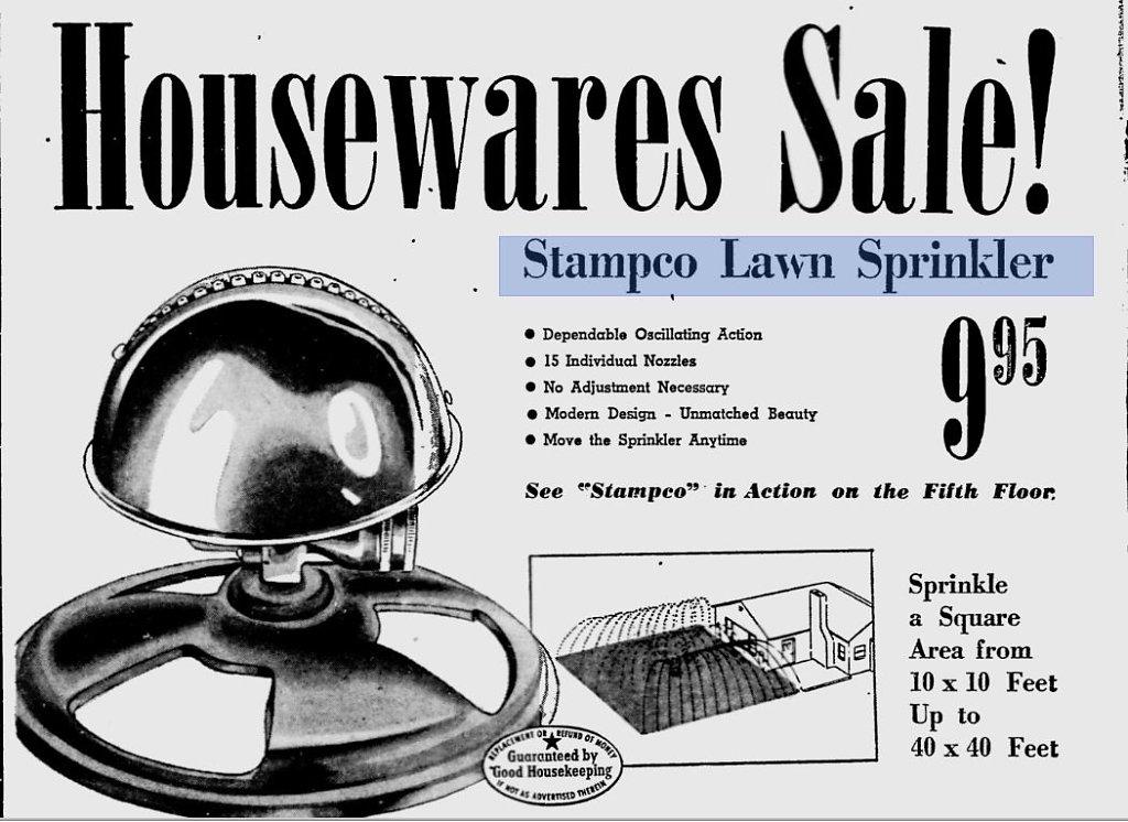 Stampco Lawn Sprinkler
