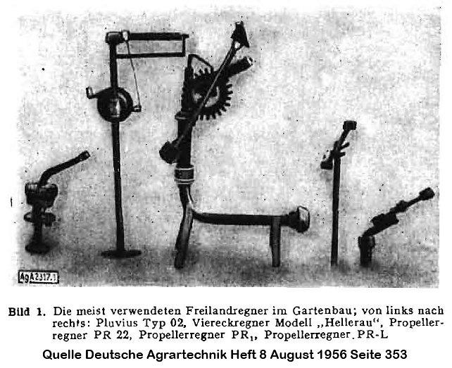 DDR Freilandregner 1956